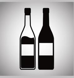 two bottle wine image vector image