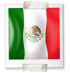 Mexico flag on square paper vector