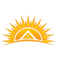 House on sunset logo vector
