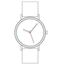 Wristwatch eps8 vector