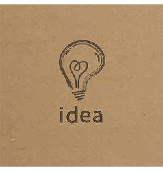 Lightbulb paper creative idea symbol concept eps vector