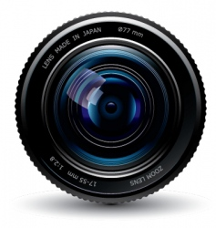 photo lens vector image