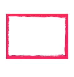 Pink grunge frame vector image