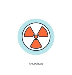 Flat radiation icon vector