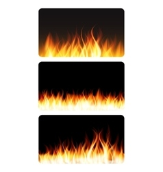 Burning flame of fire banner vector
