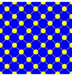 Yellow polka dot chess board grid blue vector
