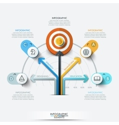 Business target marketing concept vector