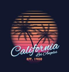 80s style vintage california typography retro vector image vector image
