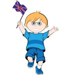 British boy vector image