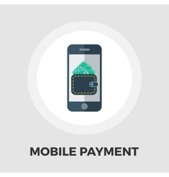 Mobile payment icon flat vector image