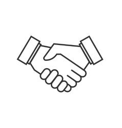 Business agreement handshake icons vector image