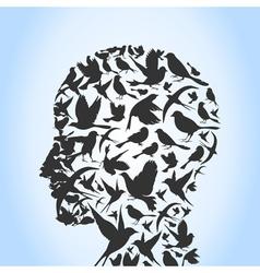 Bird a head vector image vector image