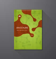 Book cover green vector image