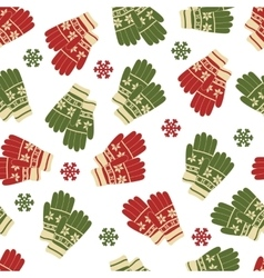 Christmas and new year seamless pattern of winter vector