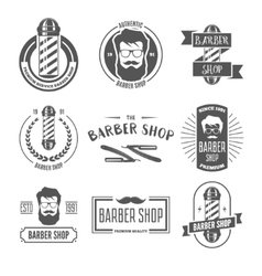Collection of vintage retro labels logotypes and vector image vector image