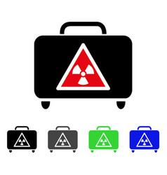 Dangerous luggage flat icon vector