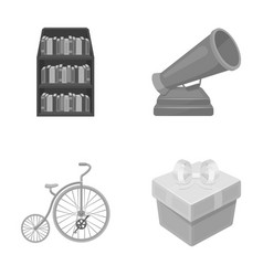 Education circus and other monochrome icon in vector