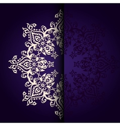 Elegant background lace medallion vector