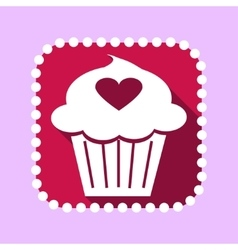 Flat icon for valentines day vector