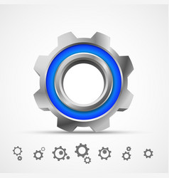 gear icon 3d vector image