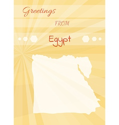 greetings from egypt vector image vector image