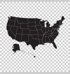 High detailed usa map with federal states united vector