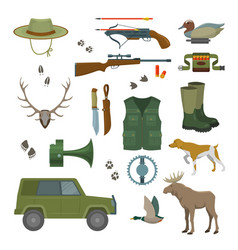 hunter set isolated vector image