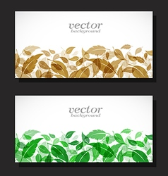 Leaves Card vector image vector image