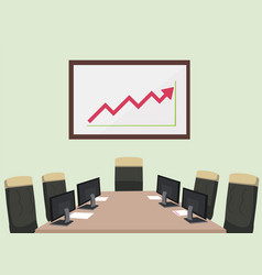 meeting room with computer paper chair vector image