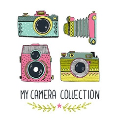 My camera collection vector