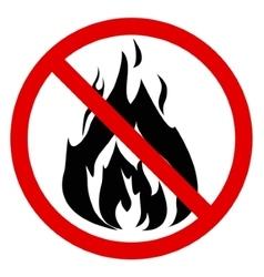 No fire vector image vector image
