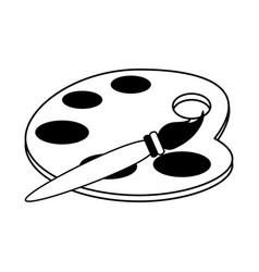 Paint palette icon image vector