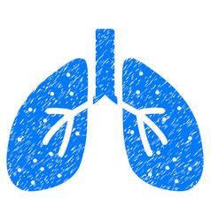 Respiratory system grunge icon vector