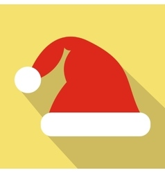 Santa hat flat icon vector