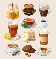 Set for coffee break or tea time vector image vector image