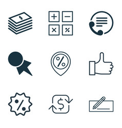 Set of 9 ecommerce icons includes recurring vector