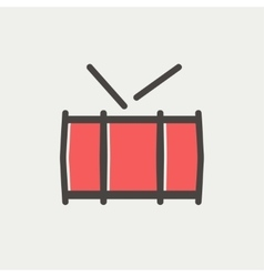 Snare drum thin line icon vector image