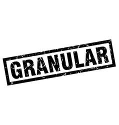 Square grunge black granular stamp vector