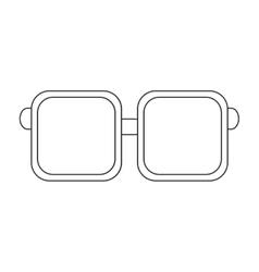 squared frame glasses icon vector image