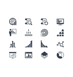 Statistics and report icons vector image vector image