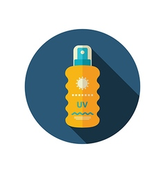 Sun Cream in Spray flat icon Summer Vacation vector image