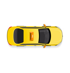 Taxi car top view flat style icon vector