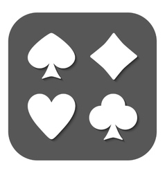 The Playing Card Suit icon vector image