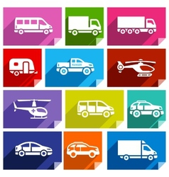 Transport flat icon bright color-03 vector image