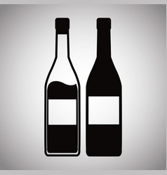 two bottle wine image vector image