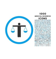 Lawyer rounded icon with 1000 bonus icons vector