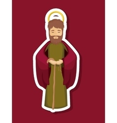 Joseph cartoon of holy night design vector
