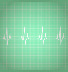 heart beats cardiogram background vector image