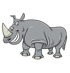Rhinoceros cartoon character vector