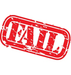 fail stamp vector image